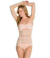 Robin Piccone Mia Crochet Bandeau One Piece Swimsuit