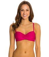 Helen Jon Bora Bora Solid Twist Underwire Bra Bikini Top