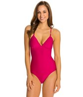 Helen Jon Bora Bora Solid Tie Back One Piece Swimsuit