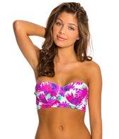 Motel Fuchsia Daisy Sunset Bandeau Bikini Top