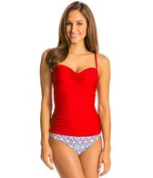 Helen Jon Del Mar Solid Twist Underwire Tankini Top
