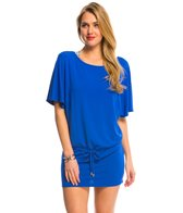 Helen Jon Del Mar Solid Boatneck Cover Up Tunic