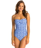 Helen Jon Riviera Twist Bandeau One Piece Swimsuit