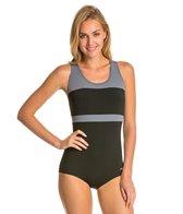 Dolfin Conservative Color Block Lap Suit Swimsuit