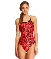 Dolfin Shatter Women's V-2 Back One Piece Swimsuit
