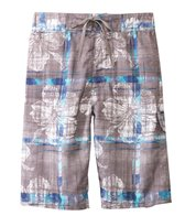 Sunshine Zone Tropical Plaid E-Boardshort