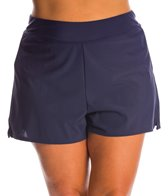 Shape Solver Plus Size Solid Swim Short