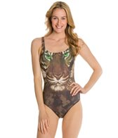 Eco Swim Jungle Jam Elle Scoopback One Piece Swimsuit