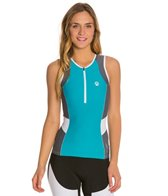 Active Angelz Women's Michela Tri Singlet with Zipper