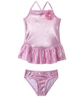 405 South Girls' Pink Sparkle Two Piece Skirted Set (4yrs-6X)