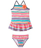 405 South Girls' Sunset Stripe Two Piece Skirted Set (7yrs-16yrs)