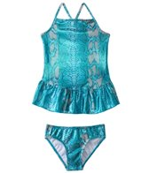 405 South Girls' Shimmery Snake Two Piece Skirted Set (4yrs-6X)
