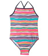 405 South Girls' Sunset Stripe Tank One Piece (4yrs-6X)