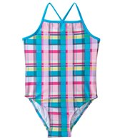 405 South Girls' Picnic Plaid Tank One Piece (4yrs-6X)