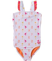 Roxy Girls' Flamingo Beach One Piece (2T-5T)