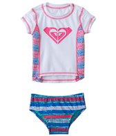 Roxy Girls' All Mixed Up S/S Rashguard Set (6mos-24mos)