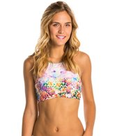 Hobie Desert Rose High Neck Crop Top