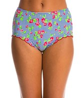 Betsey Johnson Rose Gingham Hi Waist Bottom