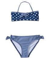 Jantzen Girls' Set Sail Polka Dot & Stripe Bikini Two Piece Set (2T-4T)