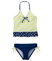 Jantzen Girls' Set Sail Lemon Tonic Tankini Two Piece Set (4yrs-6yrs)