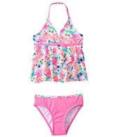 Jantzen Girls' California Cool Paradise Tankini Two Piece Set (4yrs-6yrs)