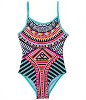Jantzen Girls' Around The World Native Art One Piece (7yrs-16yrs)
