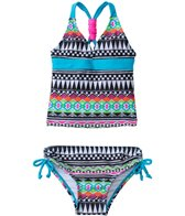 Jantzen Girls' Around The World Tribal Tankini Two Piece Set (2T-4T)