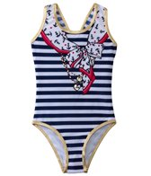 Jantzen Girls' Set Sail Nautical Scarf & Charm One Piece (7yrs-16yrs)