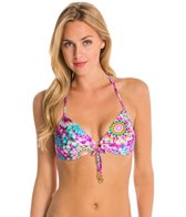 Luli Fama Sol Brillante Push Up Bandeau Halter Bikini Top
