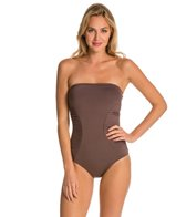 Vince Camuto Key West Style Pleated Bandeau One Piece Swimsuit