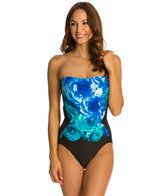 Carmen Marc Valvo The Blooms Cut Out One Piece Swimsuit