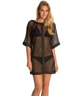 Carmen Marc Valvo City Slick Mesh Cover Up