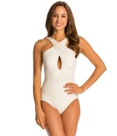 Carmen Marc Valvo Classic Dimension Halter One Piece Swimsuit