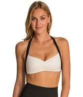 Carmen Marc Valvo Classic Dimension Halter Pleated Bra Bikini Top