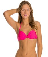 Hot Water Solid Push Up Bikini Top