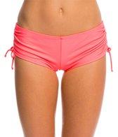 Hot Water Solid Boyshort Bikini Bottom
