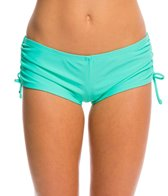 Hot Water Solid Boyshort Bikini Bottom