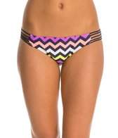Hot Water Beach Waves Multi Strap Hipster Bikini Bottom