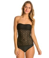 Hot Water Sweet Breeze Crochet Bandeaukini Bikini Top