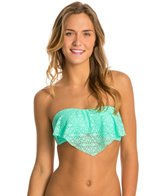 Hot Water Sweet Breeze Bandeau Flounce Bikini Top