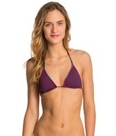 Sofia Solid Berry Triangle Bikini Top