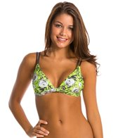 Sofia Jardin Green Double Loop Bikini Top