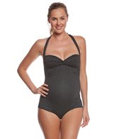 Pez Dor Maternity Montego Bay Pin Spot Jacquard One Piece Swimsuit