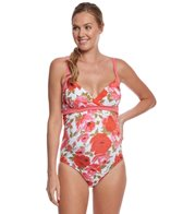 Pez Dor Maternity Montego Bay Floral One Piece Swimsuit
