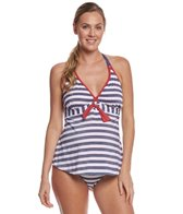 Pez D'or Maternity Palm Springs Lurex Striped Halter Tankini Two Piece
