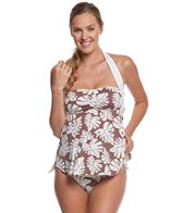 Pez D'or Maternity La Mer Palm Leaf Halter Tankini Two Piece