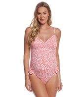 Pez Dor Maternity Mykonos Ditsy Floral Ruffle One Piece Swimsuit
