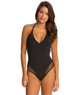 Tavik Jet Black Chase One Piece Swimsuit