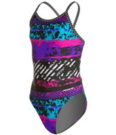Sporti Rustic Neon Thin Strap Swimsuit Youth (22-28)