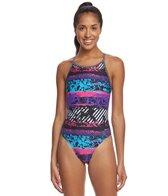 Sporti Rustic Neon Thin Strap Swimsuit